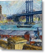 View From Brooklyn Bridge Metal Print