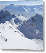 View From Summit Of Valluga, St Saint Anton Am Arlberg Austria Metal Print