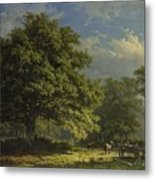 View In The Bentheim Forest, George Andries Roth, 1870 Metal Print