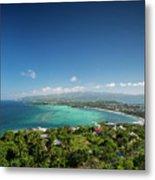 View Of Boracay Island Tropical Coastline In Philippines Metal Print