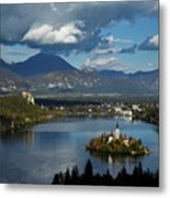 View Of Lake Bled From Ojstrica Metal Print