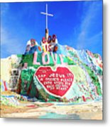 View Of Salvation Mountain Metal Print
