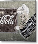 Vintage 1916 Hand Painted Coca Cola Sign Metal Print