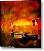 Vintage Car 2 Neons Edition Metal Print