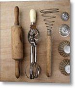 Vintage Cooking Utensils Metal Print