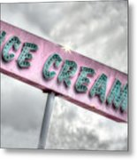 Vintage Ice Cream Sign Metal Print