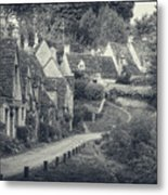 Vintage Photo Effect Medieval Arlington Row In Cotswolds Country Metal Print