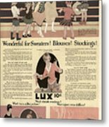 Sweaters Blouses And Stockings Vintage Soap Ad Metal Print