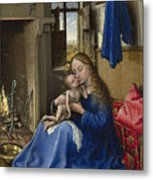 Virgin And Child In An Interior Metal Print