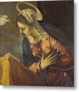 Virgin From The Annunciation To The Virgin Metal Print