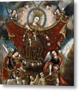 Virgin Of Carmel Saving Souls In Purgatory Metal Print