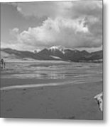 Visitors To The Sand Dunes Metal Print