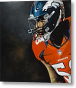 Von Miller Metal Print by Don Medina