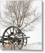 Wagon In The Snow Metal Print