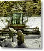 Waiting Out The Snow Metal Print