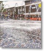 Wakefield City Centre Fountain Metal Print
