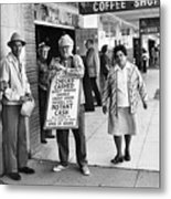 Walking Billboard Nevada Club Reno Nevada 1977 Metal Print