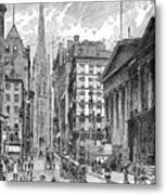 Wall Street, 1889 - To License For Professional Use Visit Granger.com Metal Print