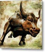 Wall Street Bull Vii Metal Print