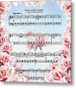 Waltz Of The Flowers Pink Roses Metal Print