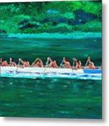 war canoe races 1977 Nooksack tribe Wa  Metal Print