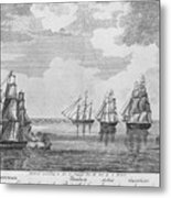 War Of 1812: Sea Battle Metal Print