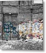 Warehouse In Lisbon Metal Print