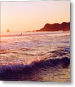 Warm Sunset In Zipolite 3 Metal Print
