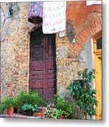 Washing Day Tuscany Metal Print
