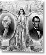 Washington And Lincoln Metal Print