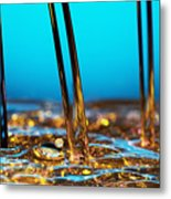Water And Oil Metal Print by Setsiri Silapasuwanchai