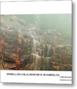 Water Fall On Cadillac Mountain Metal Print