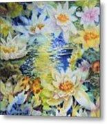 Water Garden Metal Print by Ann  Nicholson