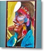 Water Healing Ceremonial Chief Yaz Metal Print