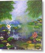 Water Lily Pond Metal Print