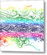 Water Pattern Metal Print