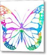 Watercolor Butterfly Metal Print