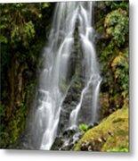 Waterfall At Azores Metal Print