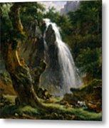 Waterfall At Mont-dore Metal Print