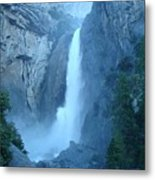 Waterfall In The Mountains Metal Print