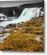 Waterfalls Of Iceland Metal Print
