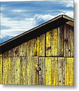 Weathered Wooden Barn, Gaviota, Santa Metal Print