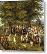 Wedding Banquet Presided Over By The Archduke And Infanta Metal Print