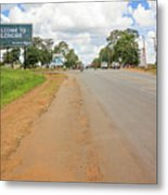 Welcome Sign To Lilongwe In Malawi. Metal Print