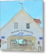 Welcome To Ocean City Metal Print