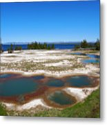 West Thumb Geyser Basin In Yellowstone National Park Metal Print
