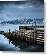 Wharf In Norris Point, Newfoundland Metal Print