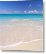 White Sand Beach Metal Print