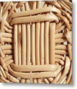 Wicker Basket Metal Print