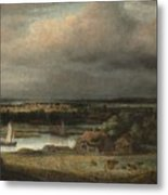 Wide River Landscape Metal Print